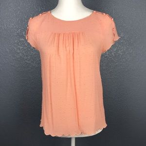 ANTHROPOLOGIE MAEVE Dainty Peach Top